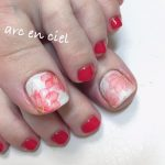 紅い花 foot