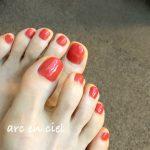 my foot  nai   paprika red